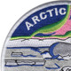 Blue Nose Submarine Arctic Circle Patch | Upper Left Quadrant