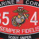 8541 Scout Sniper MOS Patch | Center Detail