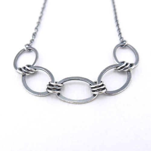 Aubrey Necklace - Original Oval Simple Sterling Silver