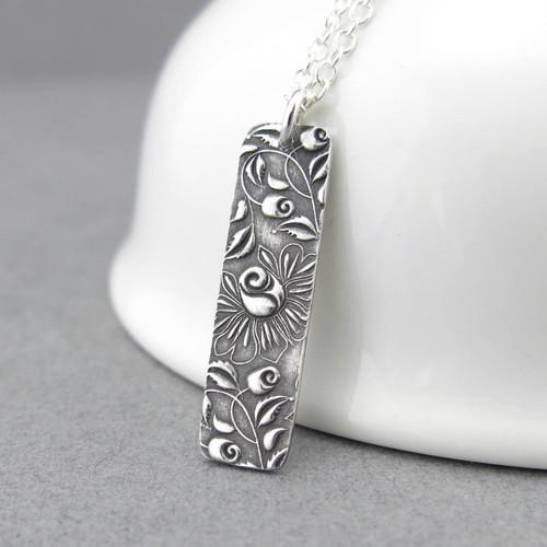 Bar Necklace - Climbing Roses