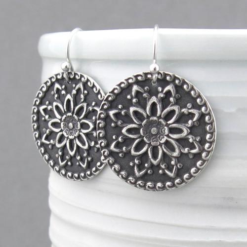 Dahlia Mandala Earrings
