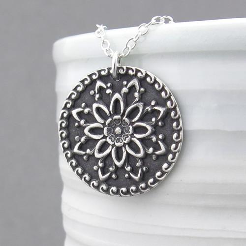 Dahlia Mandala Necklace