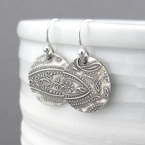 Dainty Paisley Earrings - Unique Petite