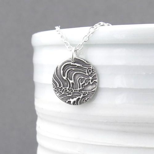Turbulent Water Necklace - Unique Petite