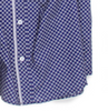 High style makes this the perfect shirt for day into evening! Beautiful 100% imported European Fabric.   This beautiful  blue and olive pin dot has a companion pattern on the inside placket and rolled up sleeves as well as a beautiful piping on the front placket.  As always, Georg Roth pay close attention to detail, making each shirt special and original it it's own way. 100% Cotton
