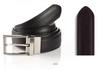 Reversible belt with satin nickel buckle Width 35mm Brown / Black Size 32-44