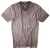 Men's Short Sleeves T-Shirt Color Coffee / Dyed Washed 60% Cotton / 40% Polyester