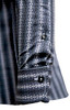 Sophisticated Luxe fine 100% Pima Cotton woven shirt for dress or casual!     A print that goes with so much and looks so rich and handsome.   The mini black & white contrast in the collar stand and cuffs, when rolled, add that special complimentary touch that Georg Roth shirts are known for.      Machine wash cold hang to dry or dry clean