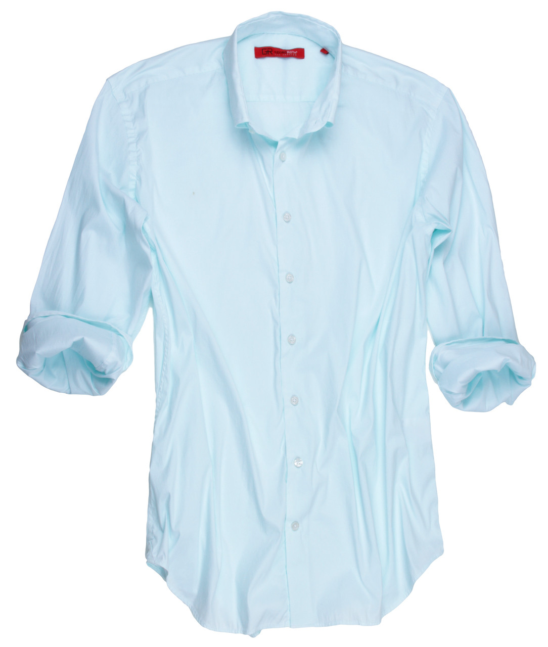 Palm Springs 9095w 018mi Long Sleeves Super Soft Stretch Mint Mens Shirt