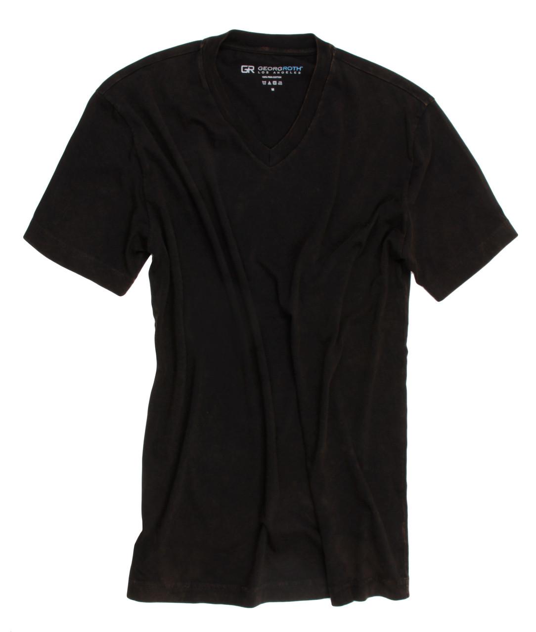 c1db340f1fa The World s Greatest V-Neck T-shirt Black Vintage Washed Short Sleeves V-