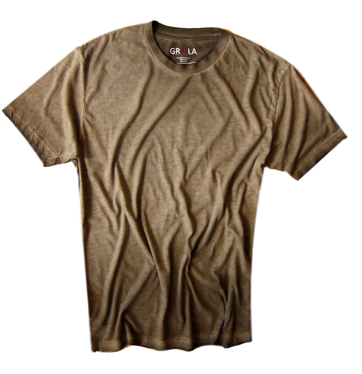 a065343b266d4 Men s Short Sleeves Crew T-Shirt Color Coffee   Garment Dyed 60% Cotton
