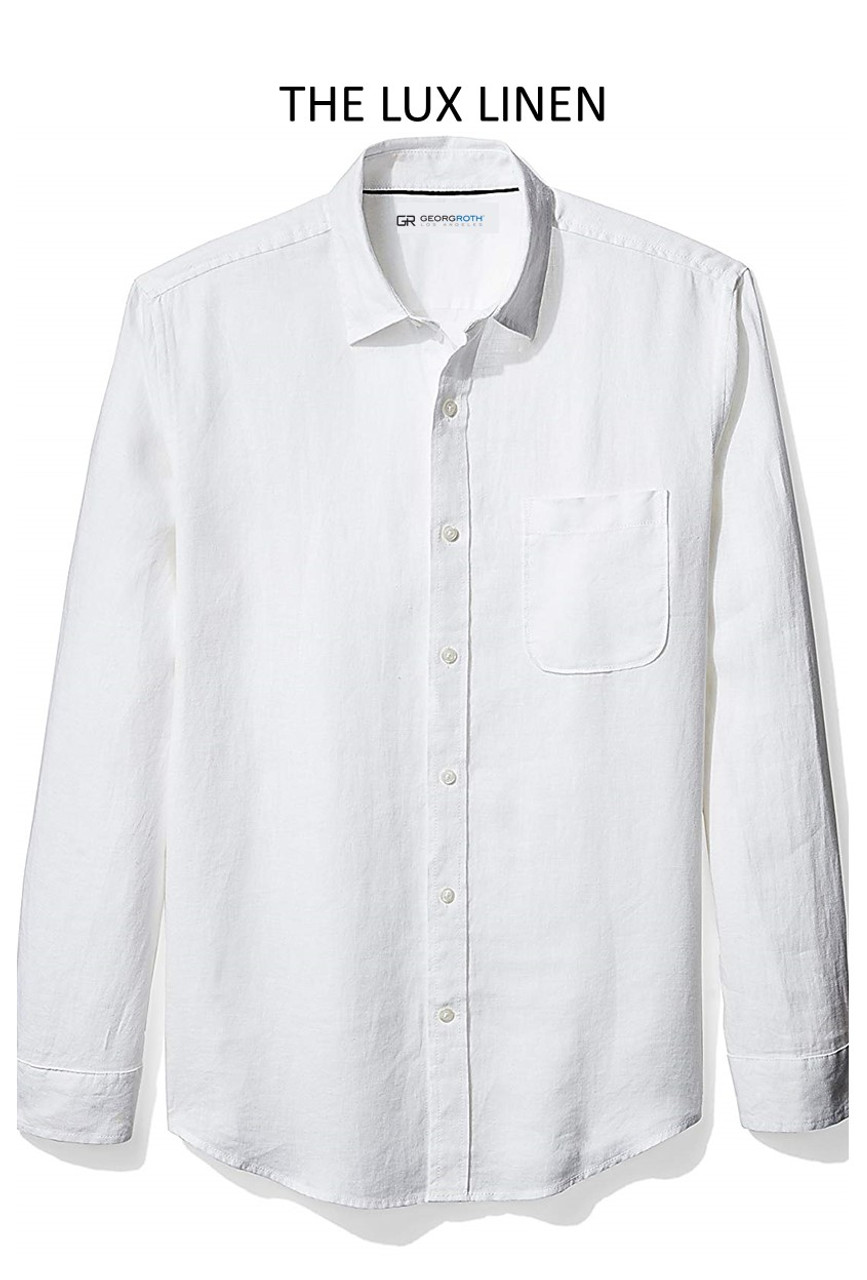 good out x great fit special buy Bora Bora Long Sleeve White Linen