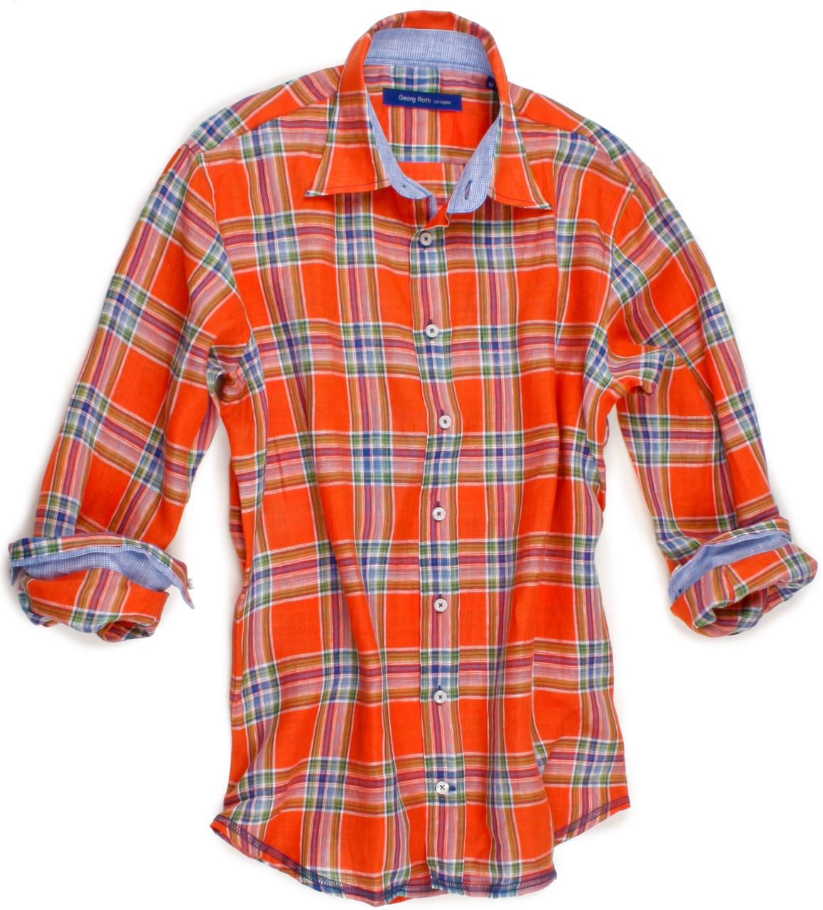 74824487d83 SKU  Georg Roth Sienna Sienna 60010-023 Long Sleeves-Men s Shirt GRLA  UPC   Orange