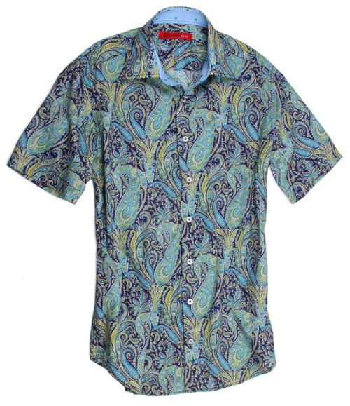 100% Cotton Men's Casual Short Sleeves Shirt Liberty of London Print