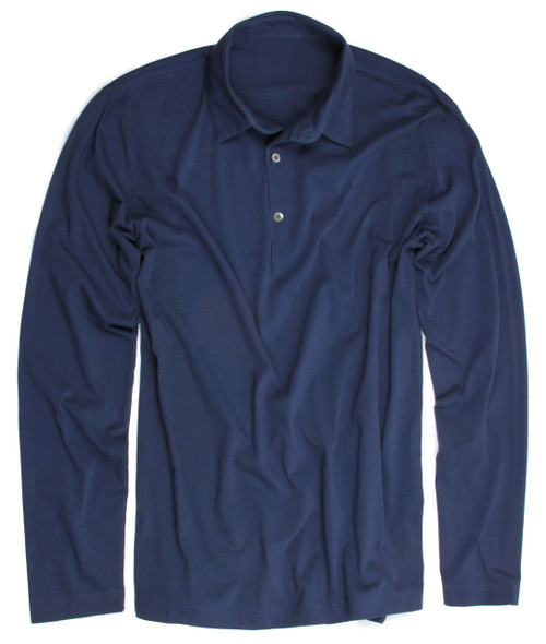 The World's Greatest Long Sleeve Polo-Shirt Made of natural materials Our guarantee: 100% Supercombined Pima Cotton / Organic Wash UP TO 60 DEGREES Celcius  Zero percent shrinkage, dryer proof Maximum maturity of elasticity & shape Ecological dyes of supreme quality & free of chemicals  (Trimmer cut please size up)
