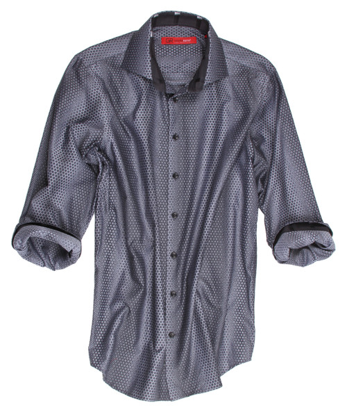 Ultra Rich & Sophisticated woven is this Big and Tall Menshirt. A fabric designed exclusively for Georg Roth, once again raising the bar in shirting's. You will love the versatility from casual elegance to dress up under a sport coat. 100% Cotton