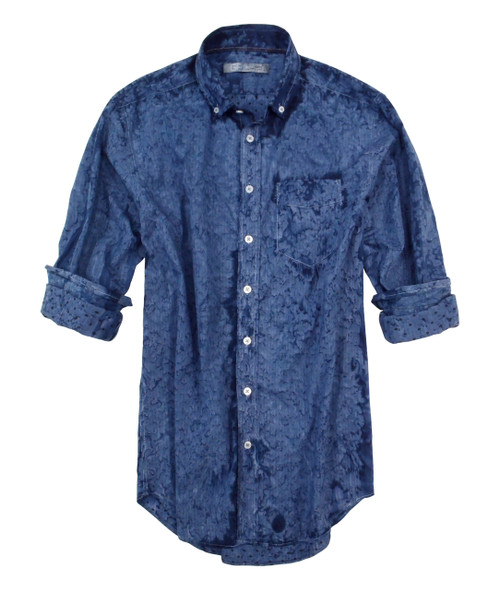 Our rain wash shirt is casual and very soft. Looks great with denim and a T Shirt under it. 100% Cotton Slightly Tapered Machine or hand wash cold. Hang to dry, light iron. Dry Clean.