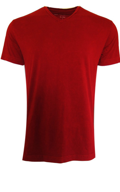 Georg Roth is proud to feature his love of t-shirts.  The World's Greatest T-Shirt Made of natural materials Our guarantee: 100% Super Combined Pima Cotton / Organic Wash UP TO 60 DEGREES Celsius or 130 Fahrenheit Zero percent shrinkage, dryer proof Maximum maturity of elasticity & shape Ecological dyes of supreme quality & free of chemicals Red garment washed V-Neck
