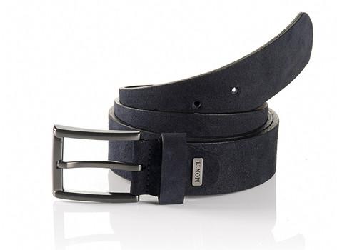 Navy Men's belt Gun metal buckle Width 35 mm  Sizes 32-34 Belt Bag & Box included
