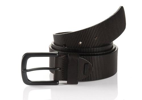 Sportswear Style Brown Full grain leather embossed Width 40mm Sizes 32-44 Belt bag included