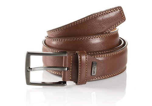 Inner lined w/ Nature cow leather  Nickel Satin Buckle  Width 35mm Sizes 32-48
