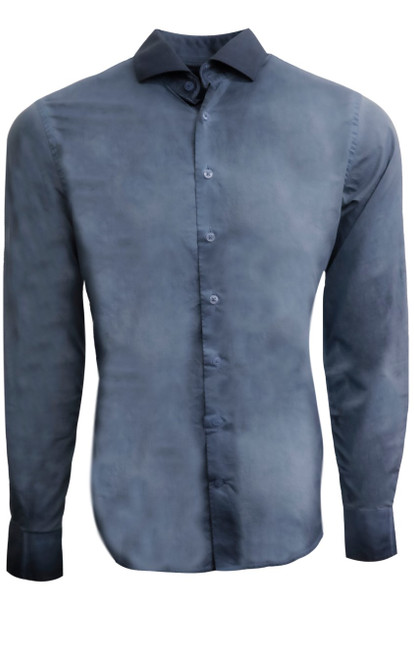 A new and exciting look created by Georg in our luxe and rich vintage wash series. Anywhere anytime for casual wear or dress it up with a jacket as the structured collar sits just right. 100 super soft cotton with shades of blue wash. The inner collar and inner cuffs are washed with a subtle pattern looking so cool with the Georg Roth roll of the sleeves. 100% Cotton garment dyed