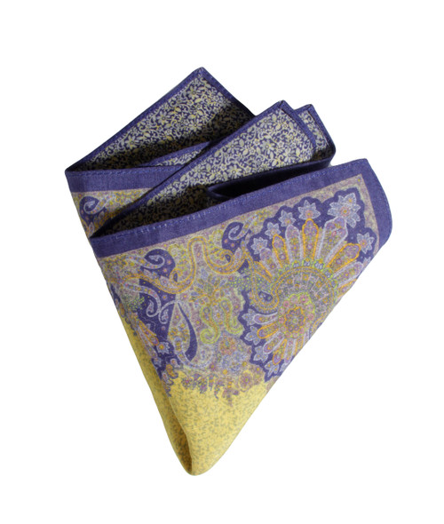 Pocket Square yellow 2250 Made in Italy