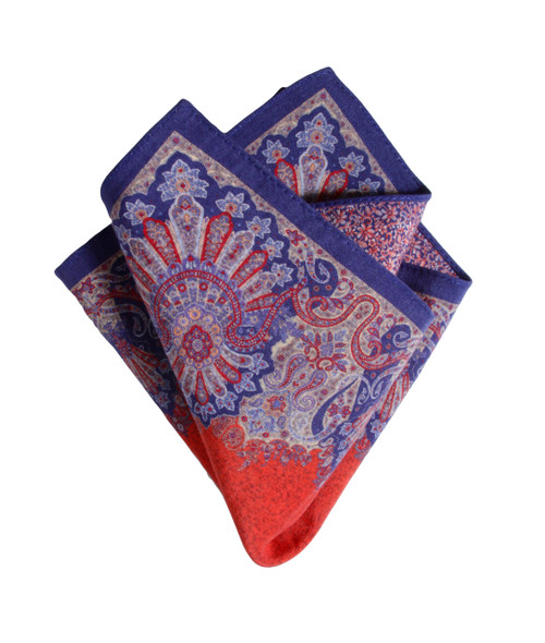 Pocket Square Red 5150 Made in Italy
