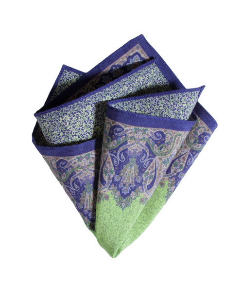 Pocket Square Green 4050 Made in Italy