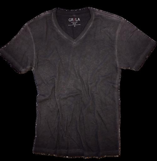 Men's Short Sleeves T-Shirt Color Basalt Grey / Garment Dyed Sizes S - XXL