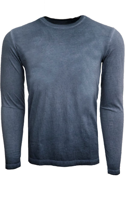 GRLA-CLS-5019 Capri Blue-Long-Sleeves-Garment Dyed-T-Shirt