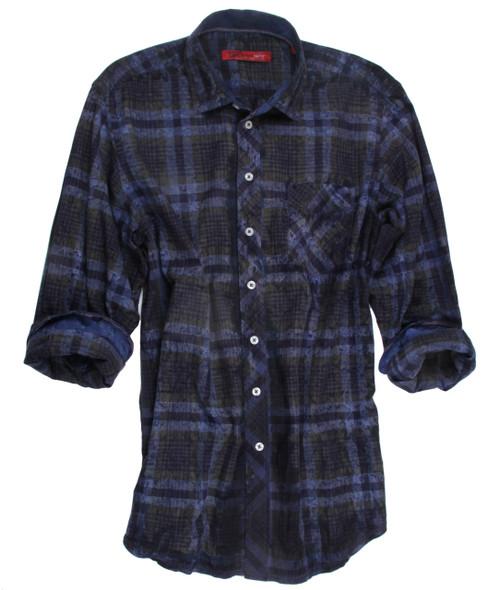 Long Sleeves Garment Dyed Men Shirt 100% Cotton