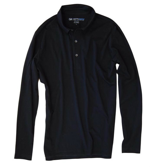 If you are familiar with our Luxe Pima than you can imagine how special and stunning our Long Sleeve fashion polo is. Black pullover 3 button with collar is perfect for dress up or casual. Works great with a jacket and feels like a million with our soft buttery feel.  Wash and dry without any shrinkage or twisting seams. Our pima is the finest in the industry and we guarantee it! For a more relaxed look, please size up 100% PIMA COTTON