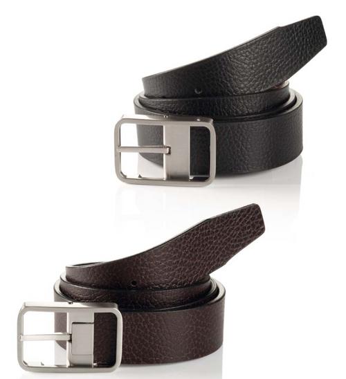 Reversible Width 35 mm Nickle Satin Buckle Size 32 thru 44 Colors 9004 Black-Brown