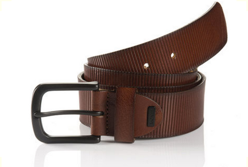 Sportswear Style Cognac Full grain leather embossed Width 40mm Sizes 32-44 Belt bag included