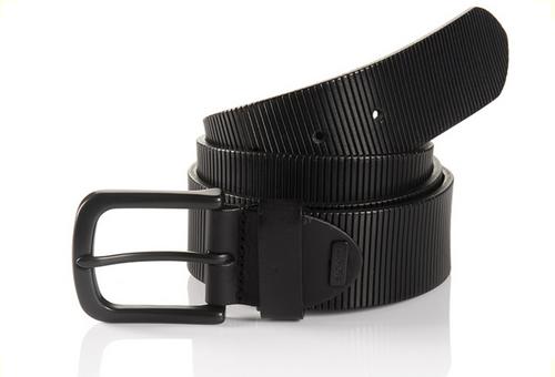 Sportswear Style Black Full grain leather embossed Width 40mm Sizes 32-44 Belt bag included