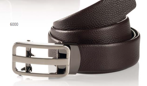 width 35 mm full grain leather tube belt brown automatic buckle WAIST SIZE Inch 32 – 44