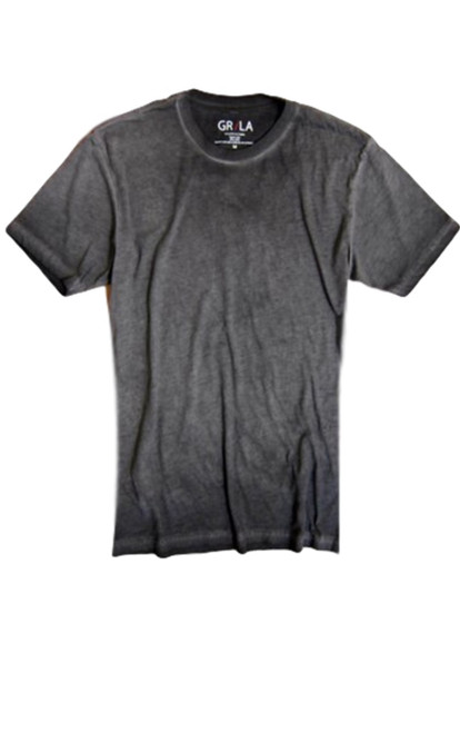Men's Short Sleeves Crew Neck  T-Shirt Color Basalt Grey / Garment Dyed Made in America Sizes S - XXL