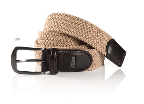 Elastic braided Belt beige What size belt should I get? If you pant is size 32 you should get belt size 34 If you pant is size 34 you should get belt size 36 and so on...