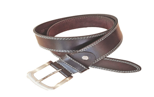 True Brown Belt with a saddle stitch is very cool with denims.   What size belt should I get?  If you pant is size 32 you should get belt size 34 If you pant is size 34 you should get belt size 36 and so on...     100% Genuine Leather  Made in Germany