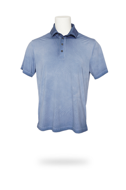 """Feel and look your best on those sunny days. Fabric - Princeville Recycled Jersey, 50+ UPF Woven Content - 79% Recycled Polyester, 21% Elastane Description - Moisture Wicking, 4-way stretch, embossed """"Palm"""" tonal print Fit - Relaxed 150 GMS, Lightest Fabric"""