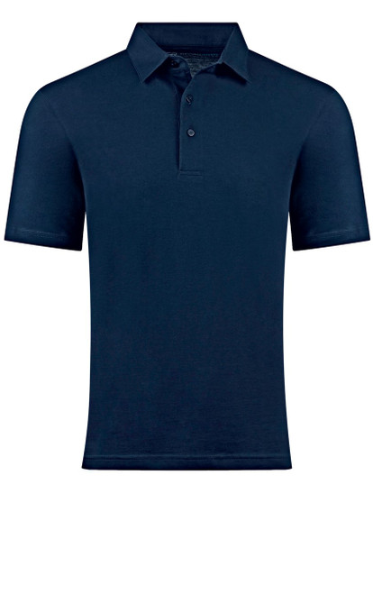So super soft and feel good is our Limited Edition Garment Dyed Polo.  A shade of Navy is vivid and rich, looks fabulous with denim, khakis or whites.  Special treatment and chemical free.  Hand or machine was cold, lay flat to dry and go! Slightly tapered.  For a comfort fit we recommend sizing up. 100% PIMA COTTON