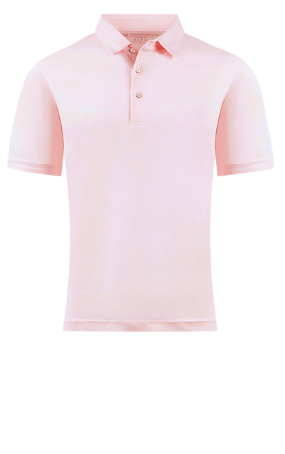 So super soft and feel good is our Limited Edition Garment Dyed Polo.  Soft Bermuda Pink looks awesome with denim, khakis or whites.  Special treatment and chemical free.  Hand or machine was cold, lay flat to dry and go! Slightly tapered.  For a comfort fit we recommend sizing up. 100% PIMA COTTON