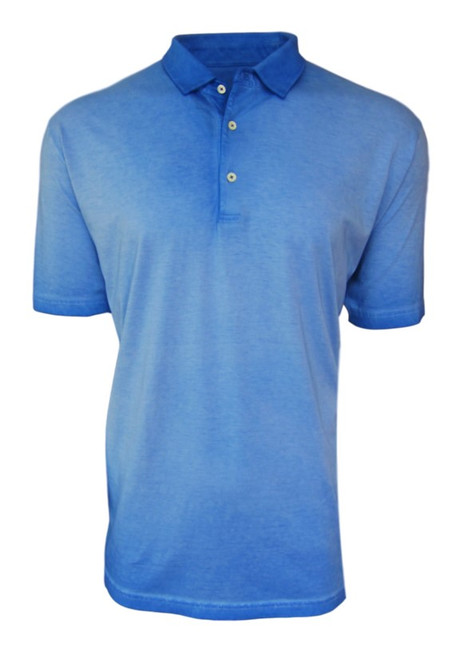 So super soft and feel good is our Limited Edition Garment Dyed Polo. Beautiful Blue with royal looks great for dress or play.  Special treatment and chemical free. Hand or machine was cold, lay flat to dry and go! Slightly tapered. For a comfort fit we recommend sizing up. 100% PIMA COTTON