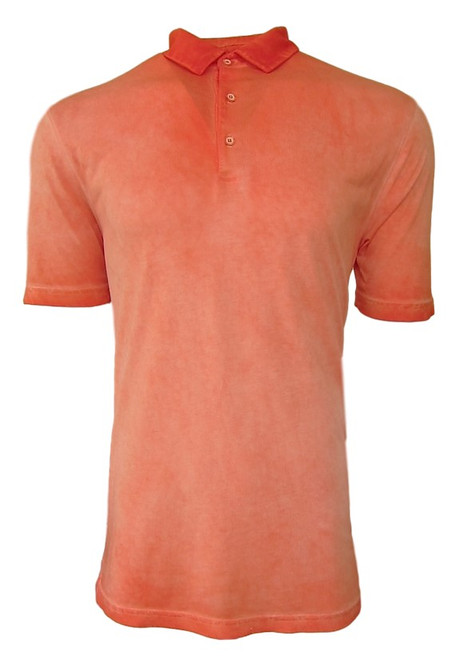 So super soft and feel good is our Limited Edition Garment Dyed Polo. Vibrant Orange looks great for dress or play with denim, khakis and whites. Special treatment and chemical free. Hand or machine was cold, lay flat to dry and go! Slightly tapered. For a comfort fit we recommend sizing up. 100% PIMA COTTON