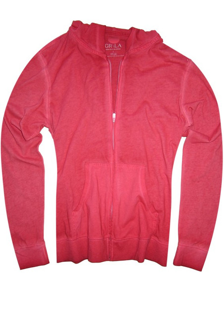 Your go to fashion full zip hoodie has arrived! A stunning brick garment dyed looks great with denims, khakis, whites and shorts.   Easy piece that you will just love the comfort and feel. Pair it with any of our tees and enjoy the layered look of casual comfort.  100% Organic cotton  Hand or Machine wash cold and lay flat to dry (No bleach please)