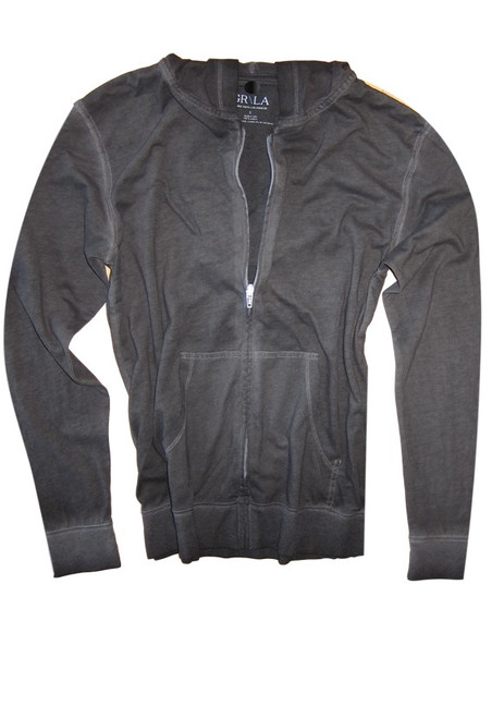 Your go to fashion full zip hoodie has arrived! A rich gray to pair with black, denim, whites and shorts.   So easy in a soft buttery cotton,that you will just love the comfort and feel. Pair it with any of our tees and enjoy the layered look of casual comfort.  100% Organic cotton  Hand or Machine wash cold and lay flat to dry (No bleach please)