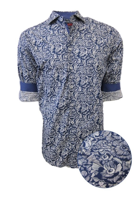 A Shirtastic print! What to wear for a casual sport look day into evening, this is it! Georg loves to pair it with a white Luxe Pima Tee, denims and even wear it open with the sleeves rolled for a laid back casual look. Soft and comfortable 100 Pima Cotton Machine wash or dry clean.