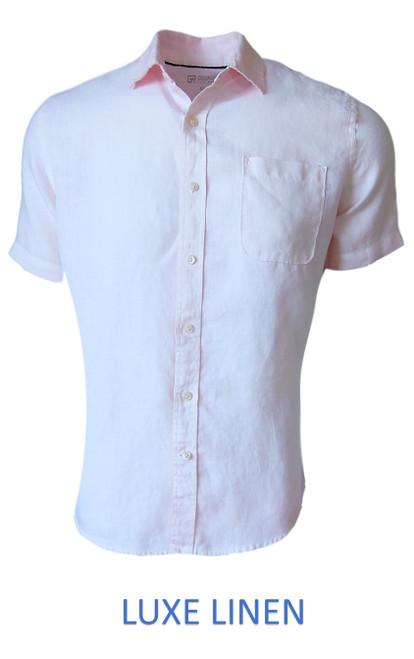 Lux Linen VENICE BEACH 25009 Short Sleeve Pink  Linen