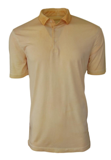 So super soft and feel good is our Limited Edition Garment Dyed Polo. Soft yellow  looks awesome with denim, khakis or whites. Special treatment and chemical free. Hand or machine was cold, lay flat to dry and go! Slightly tapered. For a comfort fit we recommend sizing up. 100% PIMA COTTON